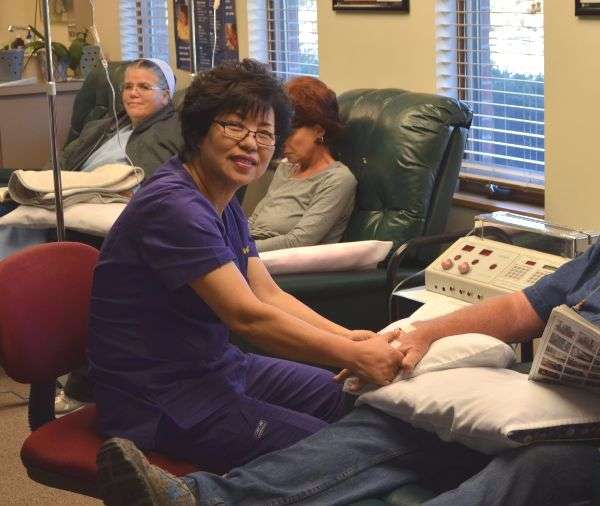 Dr. H. Chung of the Get Well Center, alternative medicine doctor